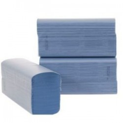 Z-Fold 1 ply Blue (recycled) Paper Towels