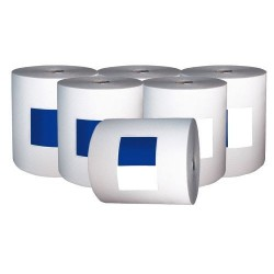 Airlaid Non-Woven Wiping Rolls 23cm x 80m (Pack Of 6 Rolls)