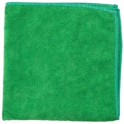 Microfibre Cloths 280gsm - Green (Pack Of 20 Cloths)