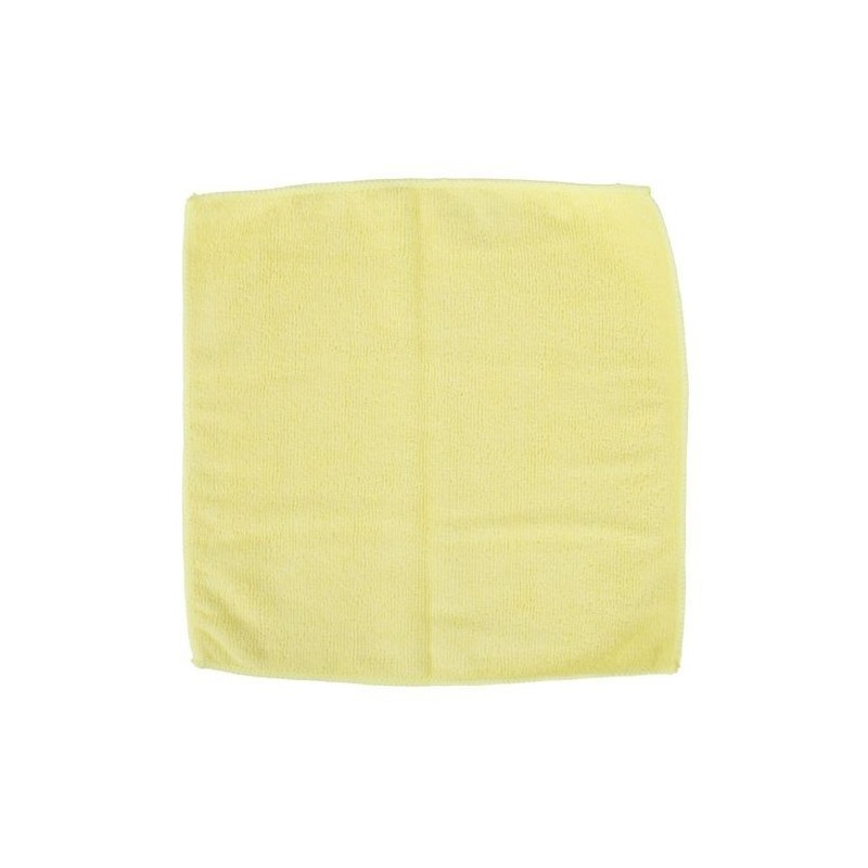 Microfibre Cloths 280gsm - Yellow (Pack Of 20 Cloths)
