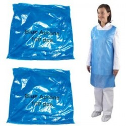 Economy Blue Flat Pack Aprons (Case Of 10 x 100 Packs)