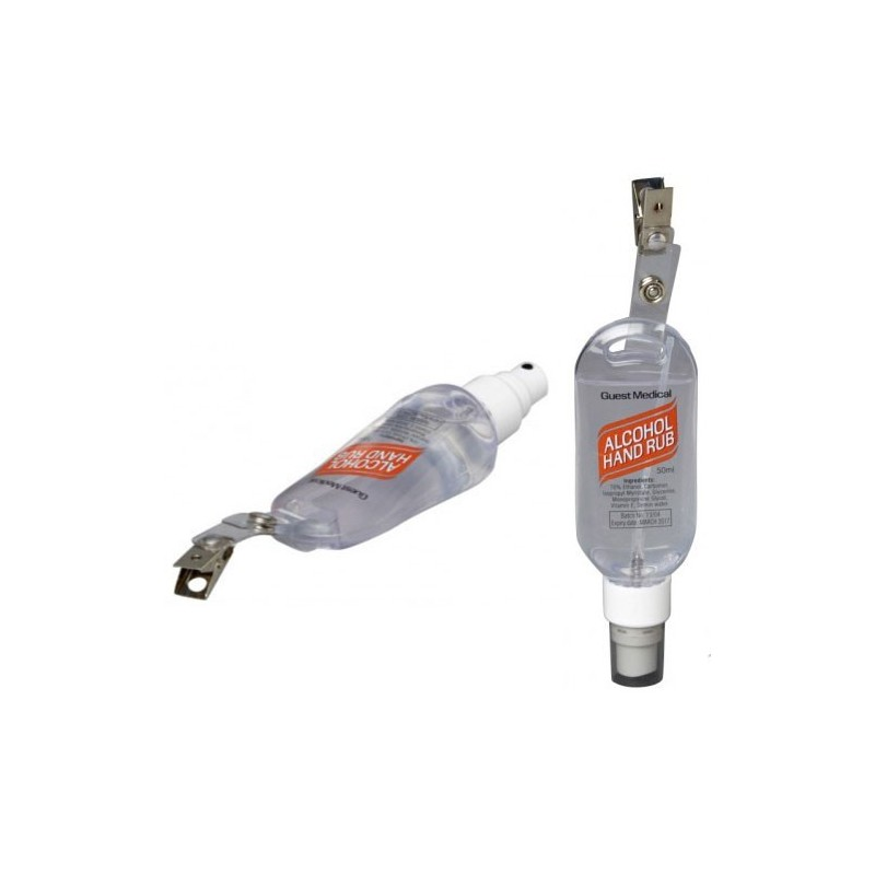 Alcohol Hand Rub 50ml 'Tottle' Personal Dispenser With Belt Clip (Case Of 50)