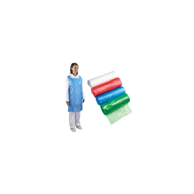 Economy Blue Aprons On A Roll (Case Of 5 x 200 Aprons)