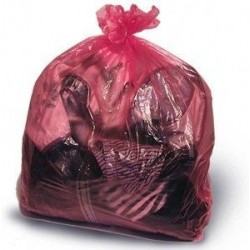 Edit: Red Soluble Strip Laundry Bags Large