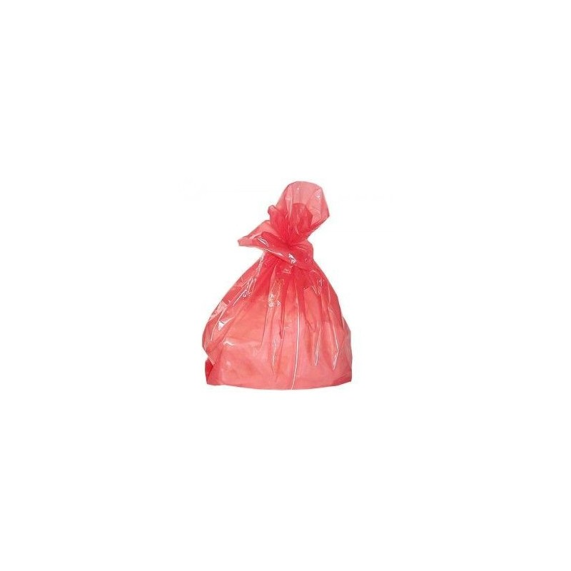 Economy Red Soluble Strip Laundry Bags Small