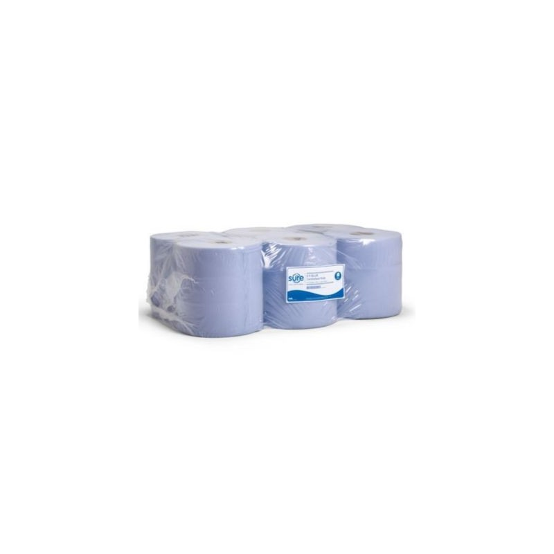 Blue Economy Centrefeed Roll 2ply 19cm x 150m (Pack Of 6)