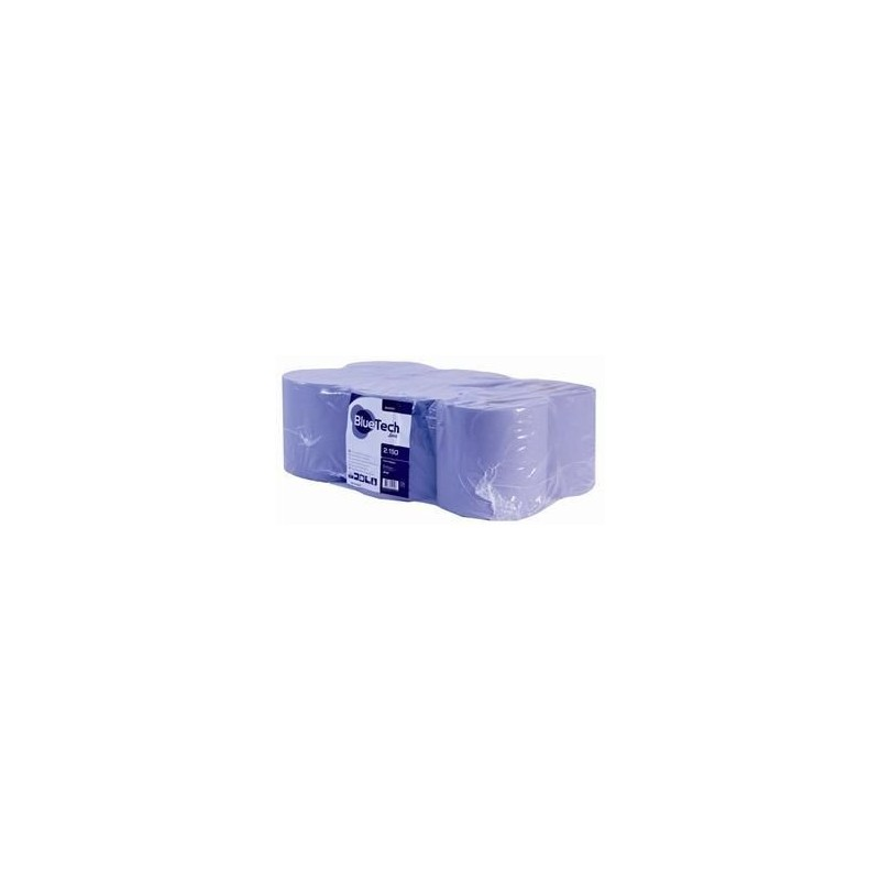 Bluetech 2 Ply Blue 20cm x 150m Perforated 429 sheets (Pack Of 6)