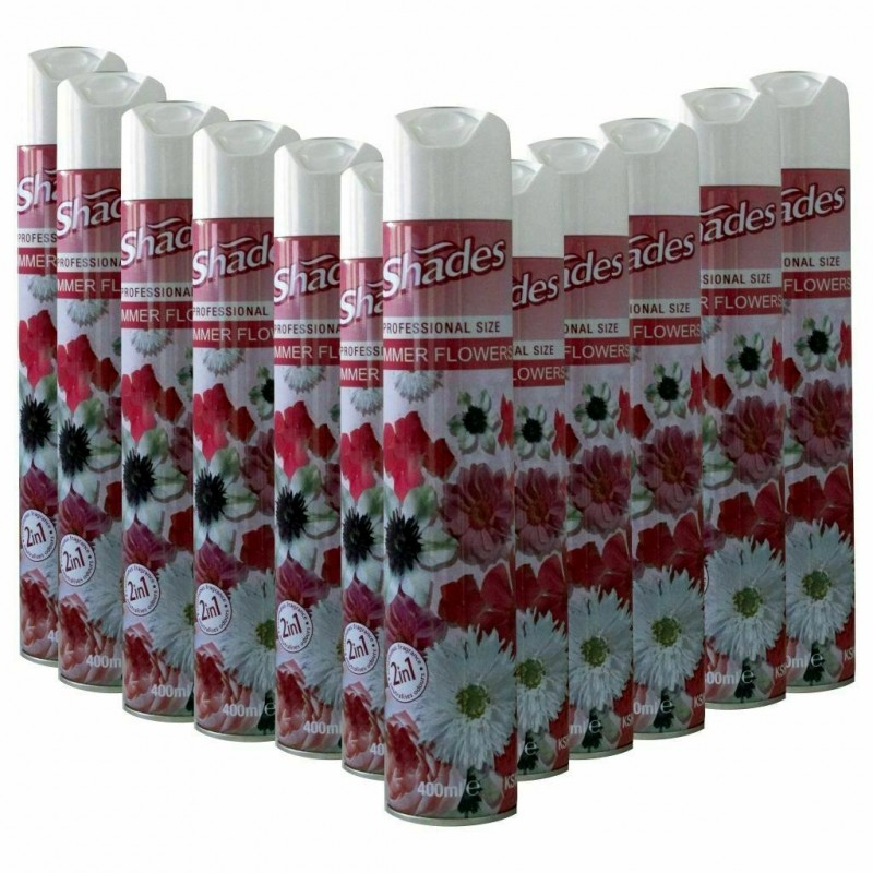 Shades Summer Flowers Air Fresheners by Jeyes (12 x 400ml)