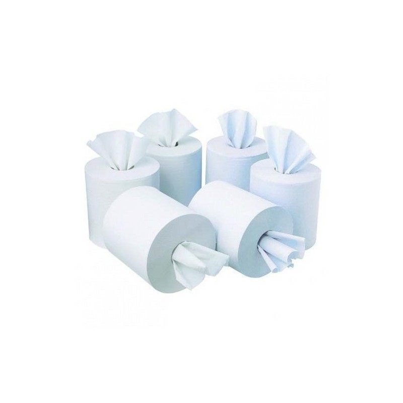 Centrefeed Roll 20cm x 150m 2 ply White 100% Recycled (Pack Of 6)