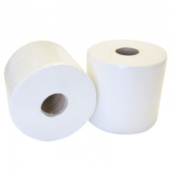 Mini Centrefeed Toilet Rolls Designed For Twin Dispensers (Pack Of 12 Rolls)